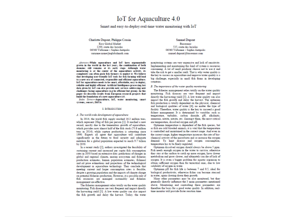 IoT for Aquaculture 4.0