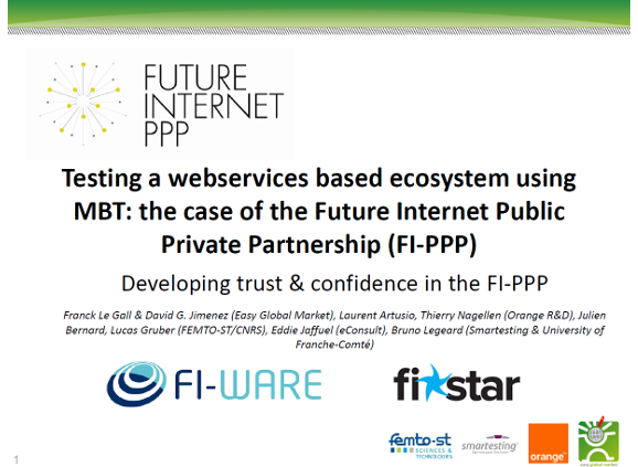 Testing a webservices based ecosystem using MBT: the case of the Future Internet Public Private Partnership (FI-PPP)