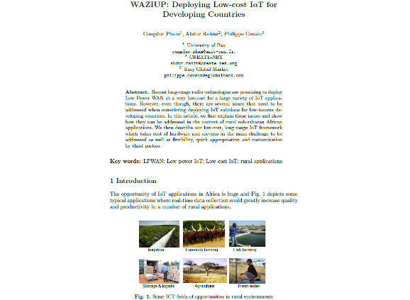 WAZIUP: Deploying Low-cost IoT for Developing Countries