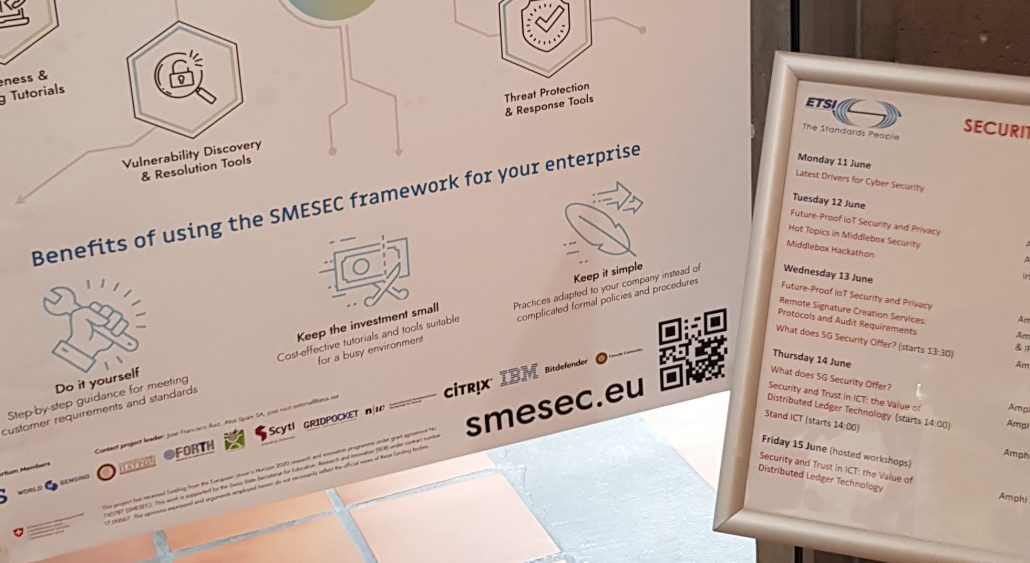 ETSI Security Week, EGM presenting the SMESEC framework